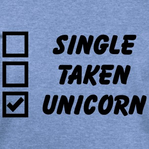 Single, Taken, Unicorn Long Sleeve Shirts - Women's Wideneck Sweatshirt