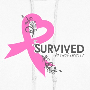 I survived breat cancer2.png Hoodies - Women's Hoodie