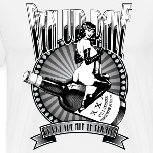 Pin Up Pale Ale - Vintage Pin Up Style Graphic - Men's Premium T-Shirt