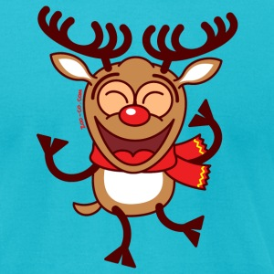 Christmas Reindeer Dancing Animatedly T-Shirts - Men's T-Shirt by American Apparel