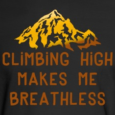 Rock Climbing High Makes Me Breathless