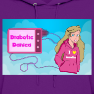Design ~ DiabeticDanica Logo Women's Hoodie