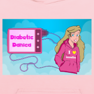 Design ~ DiabeticDanica Logo Kid's Hoodie