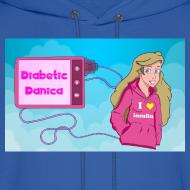 Design ~ DiabeticDanica Logo Men's Hoodie