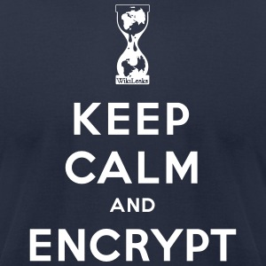 Keep calm and Encrypt T-Shirts - Men's T-Shirt by American Apparel