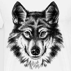 sketches of animals wolf - Men's Premium T-Shirt
