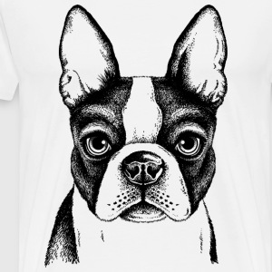 sketches of animals small dog - Men's Premium T-Shirt