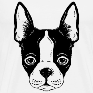 sketches of animals dog with funny ears - Men's Premium T-Shirt