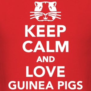 Keep calm and love guinea pigs T-Shirts - Men's T-Shirt