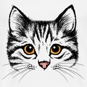 sketches of animals cat - Men's Premium T-Shirt