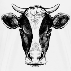 sketches of animals cow with horns - Men's Premium T-Shirt