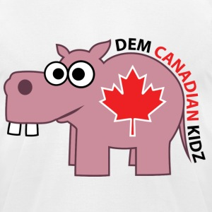 T-Shirt - Dem Canadian Kidz - Men's T-Shirt by American Apparel
