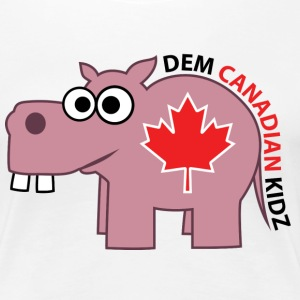 Fitted T-Shirt - Dem Canadian Kidz - Women's Premium T-Shirt