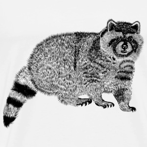 sketch a real raccoon - Men's Premium T-Shirt