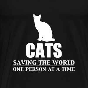 Cats - Saving the World - Men's Premium T-Shirt