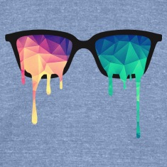 Abstract Psychedelic Nerd Glasses with Color Drops T-Shirts
