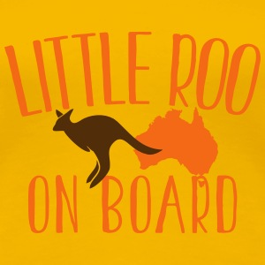 Little Roo on board with kangaroo Australian Women's T-Shirts - Women's Premium T-Shirt
