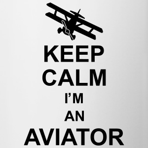 keep_calm_im_an_aviator_g1 Mugs & Drinkware - Contrast Coffee Mug