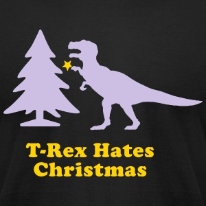 Men's Humor T-Rex Hates Christmas T-Shirts - Men's T-Shirt by American Apparel