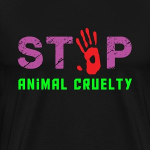 stop animal cruelty men black t shirt - Men's Premium T-Shirt