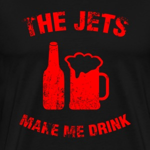 The jets make me drink black t-shirt - Men's Premium T-Shirt