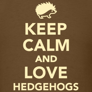 Keep calm and love hedgehogs T-Shirts - Men's T-Shirt