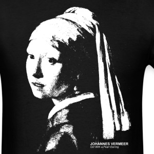 Johannes Vermeer, Girl With a Pearl Earring - Men's T-Shirt