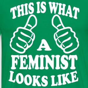 This is What a Feminist Looks Like T-Shirts - Men's Premium T-Shirt
