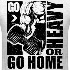 Heavy Sports Gym Quotes - Men's T-Shirt