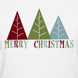 Merry Christmas Trees - Women's T-Shirt