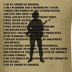 US Army Soldiers Creed Shirt
