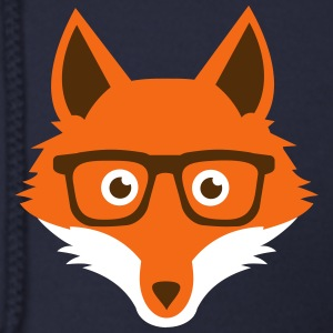 Sweet Funny hipster fox with nerd glasses Zip Hoodies & Jackets - Men's Zip Hoodie