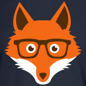 Sweet Funny hipster fox with nerd glasses Long Sleeve Shirts - Men's Long Sleeve T-Shirt