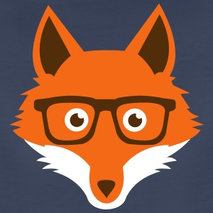 Sweet Funny hipster fox with nerd glasses Women's T-Shirts - Women's Premium T-Shirt