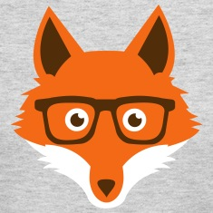Sweet Funny hipster fox with nerd glasses Long Sleeve Shirts