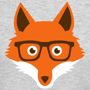 Sweet Funny hipster fox with nerd glasses Long Sleeve Shirts - Women's Long Sleeve Jersey T-Shirt