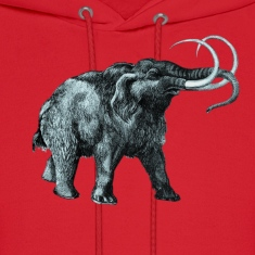 The mammoth, Primal elephants from the past. Hoodies