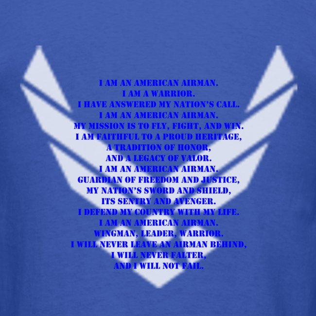 Military veteran pride us air force airmans creed shirt mens t shirt us air force airmans creed shirt thecheapjerseys Images
