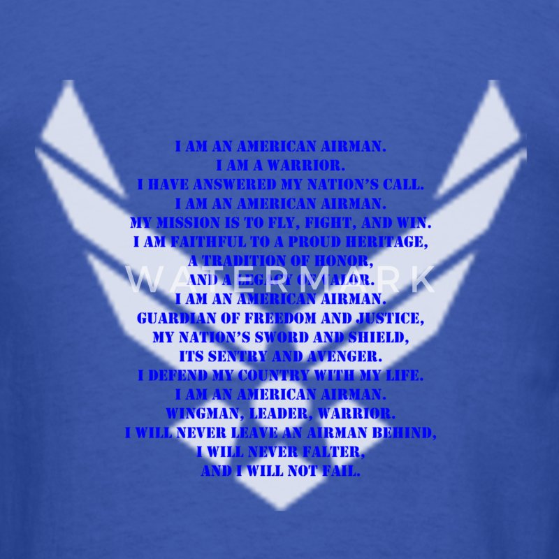 US Air Force Airman's Creed Shirt - Men's T-Shirt