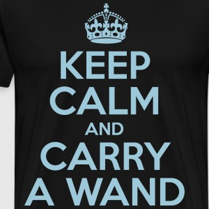 Keep Calm And Carry A Wand - Men's Premium T-Shirt