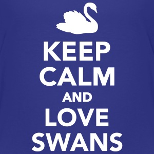 Keep calm and love swans Kids' Shirts - Kids' Premium T-Shirt