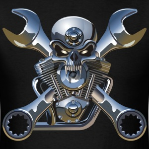 Metal Skull and Cross Wrenches T-Shirts - Men's T-Shirt