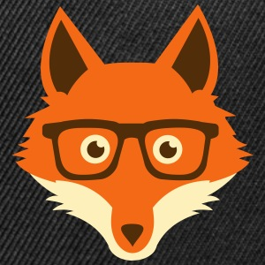 Sweet Funny hipster fox with nerd glasses Caps - Snap-back Baseball Cap