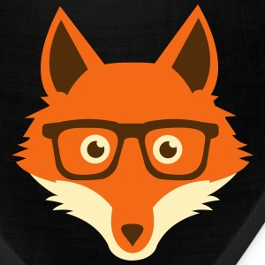 Sweet Funny hipster fox with nerd glasses Caps - Bandana