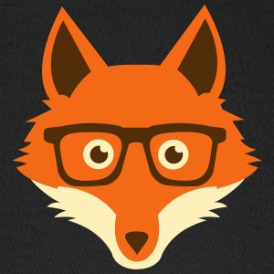 Sweet Funny hipster fox with nerd glasses Caps - Baseball Cap