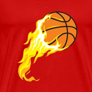 cartoon ball for basketball on fire - Men's Premium T-Shirt