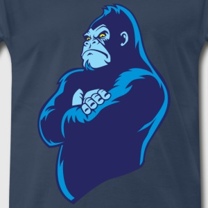 blue cartoon gorilla - Men's Premium T-Shirt