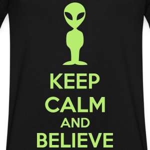 Keep Calm And Believe T-Shirts - Men's V-Neck T-Shirt by Canvas