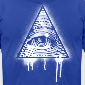 Illuminati Eye Graffiti T-Shirts - Men's T-Shirt by American Apparel