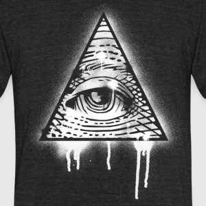 Illuminati Eye Graffiti T-Shirts - Unisex Tri-Blend T-Shirt by American Apparel